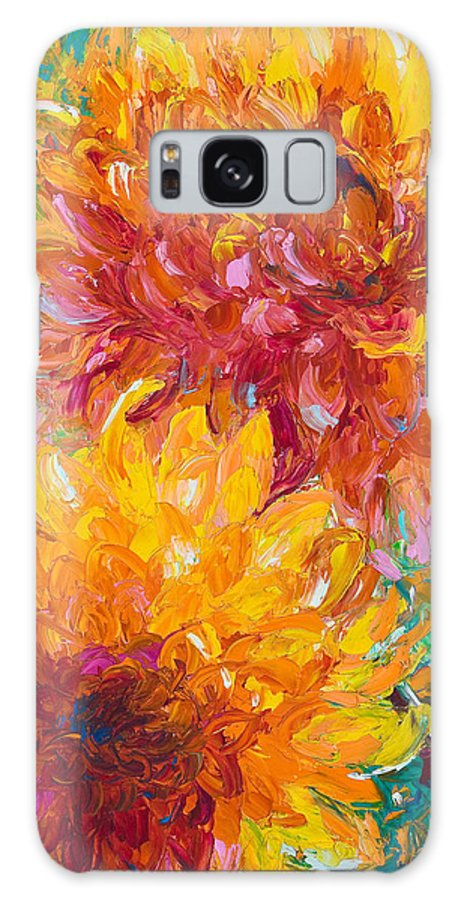 Dahlia Galaxy S8 Case featuring the painting Passion by Talya Johnson