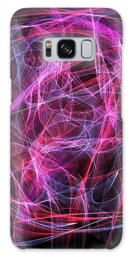 Passions Of Light Imagination Ignite Purple Pink Creativity Fractals Work Galaxy S8 Case featuring the digital art Passions Of Light by Loreal Harris