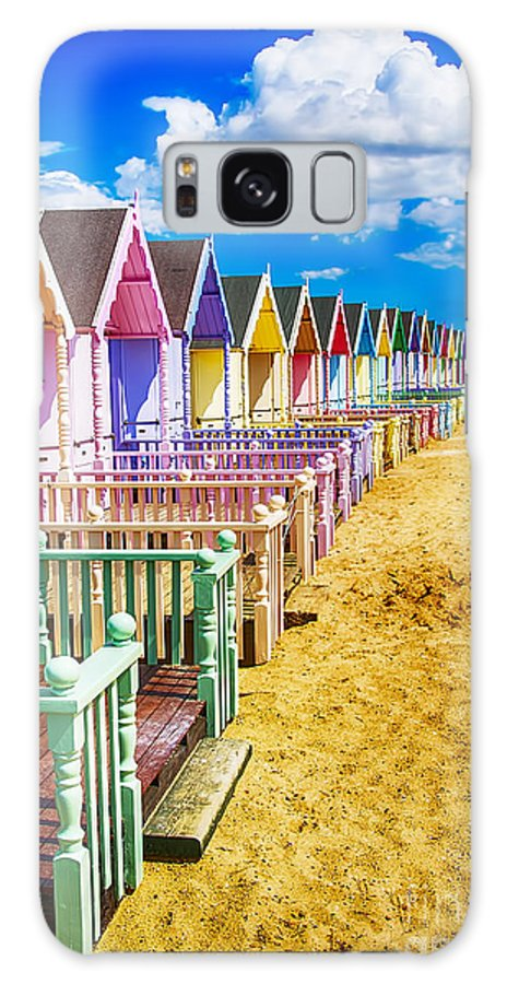 Beach Huts Canvas Galaxy S8 Case featuring the photograph Pastel Beach Huts 2 by Chris Thaxter