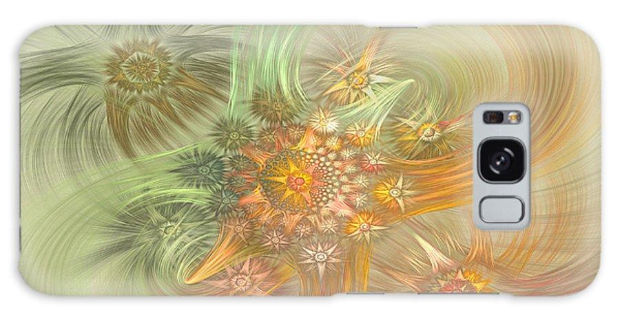 Fractal Galaxy S8 Case featuring the digital art Pastel Delicate Pattern by Deborah Benoit