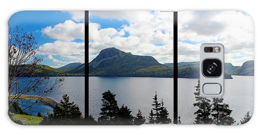 Pastoral Scene By The Ocean Triptych Galaxy S8 Case featuring the photograph Pastoral Scene By The Ocean Triptych by Barbara Griffin