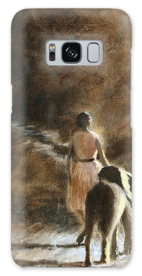 Elephant Elephants Conservation David Sheldrick Wildlife Trust Africa African Kenya Kenyan Galaxy S8 Case featuring the painting Path To Freedom by Ann Radley