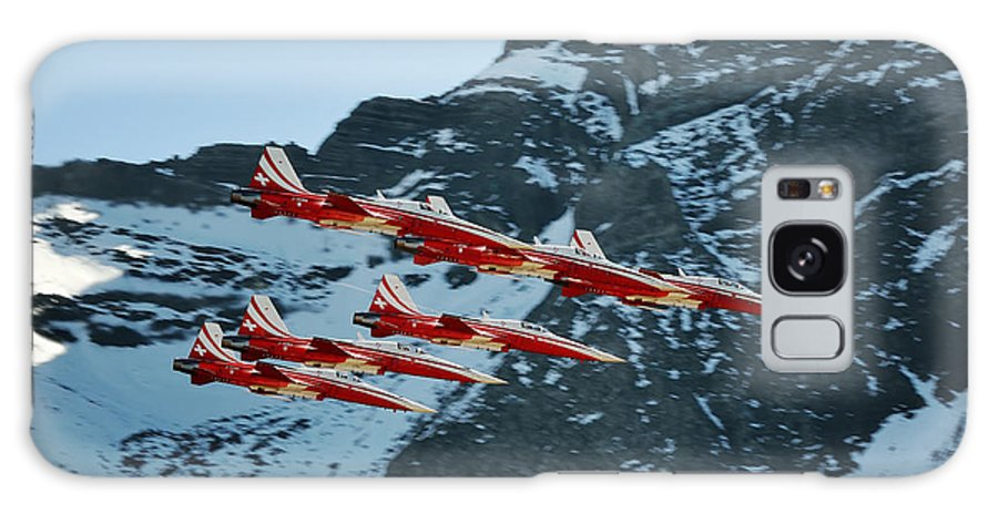 Jet Galaxy S8 Case featuring the photograph Patrouille Suisse Vll by Marta Holka