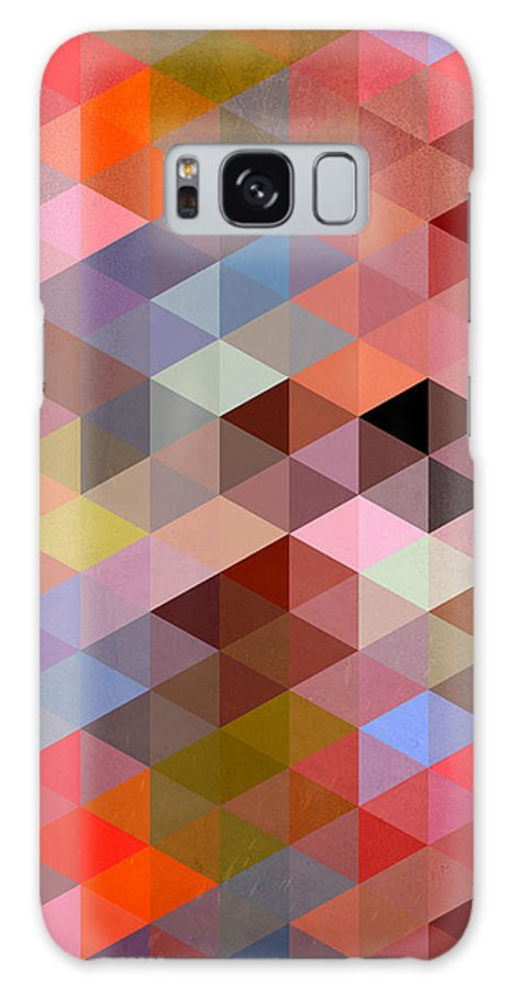 Contemporary Galaxy S8 Case featuring the digital art Pattern Of Triangle by Mark Ashkenazi