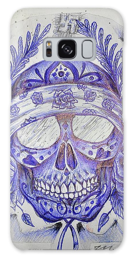 Skull Galaxy S8 Case featuring the drawing Paul by Michael Schimank