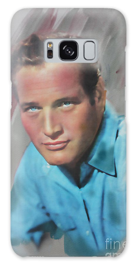 Paul Newman Galaxy S8 Case featuring the mixed media Paul Newman by Roger Lighterness