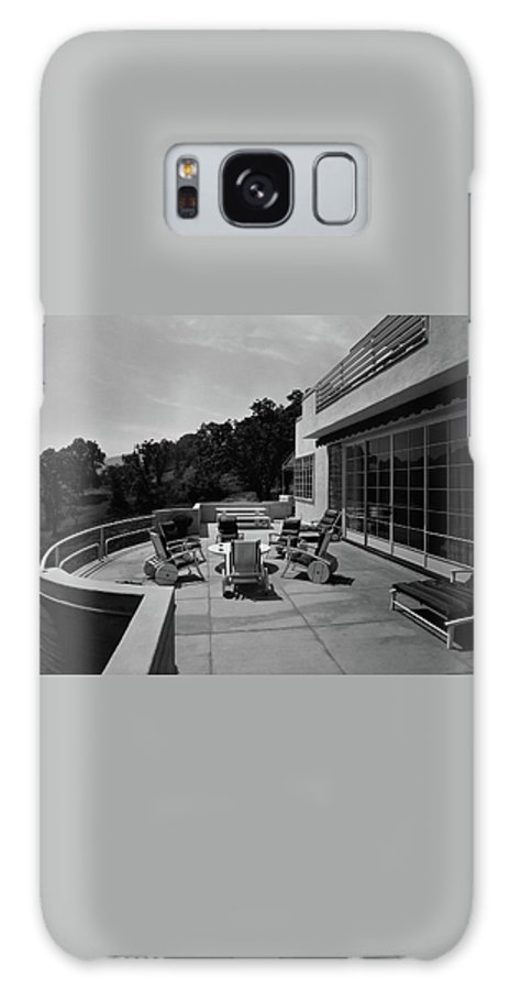 Exterior Galaxy S8 Case featuring the photograph Paved Terrace At The Residence Of Mr. And Mrs by Clyde H. Sunderland