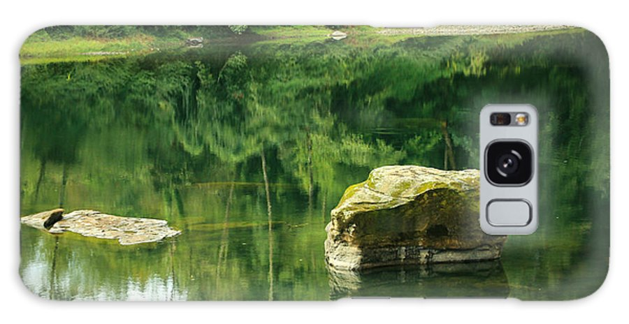 Scene Galaxy S8 Case featuring the photograph Peace By The River by Katie Wing Vigil