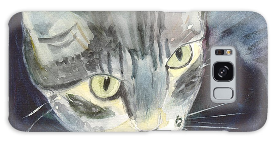 Kitten Galaxy S8 Case featuring the painting Peace The Cat by Mickey Krause