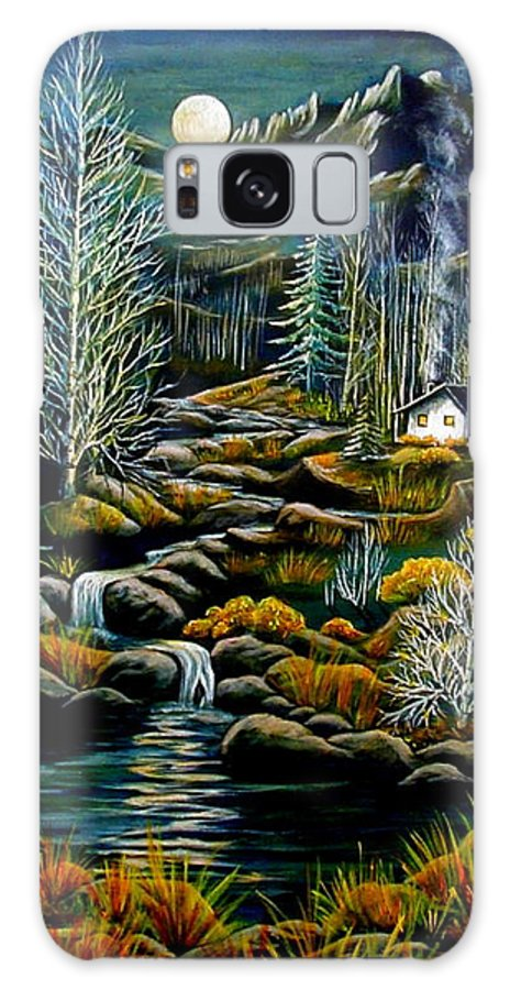 Mountains Galaxy S8 Case featuring the painting Peaceful Seclusion by Diana Dearen