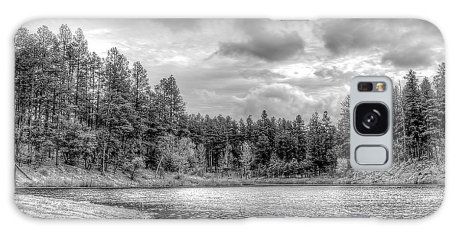 Lake Galaxy S8 Case featuring the photograph Peaceful Times 2 Black And White by Ernest Moreno