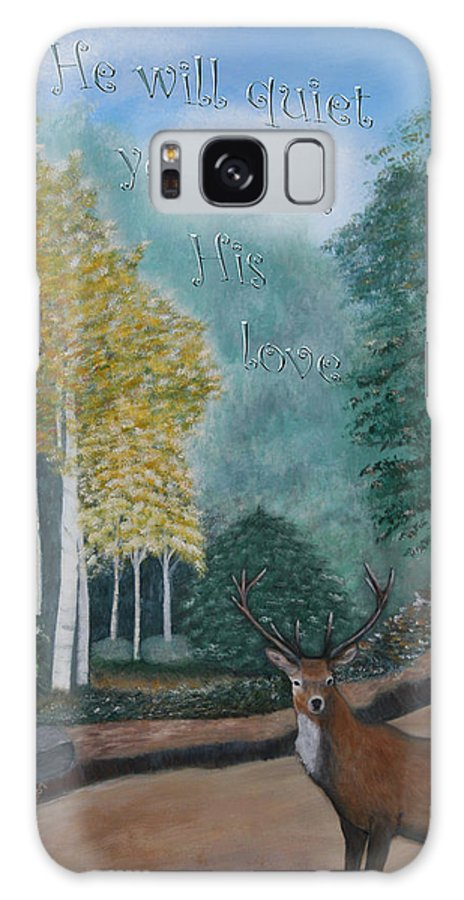 Landscape Galaxy S8 Case featuring the painting Peaceful Walk by Mary Grabill