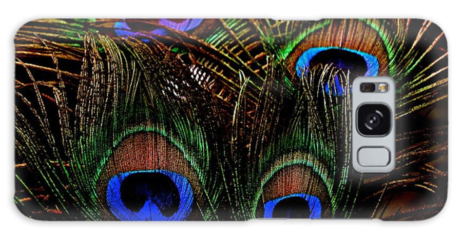 Peacock Galaxy S8 Case featuring the photograph Peacock Eye Feathers by Lisa Telquist