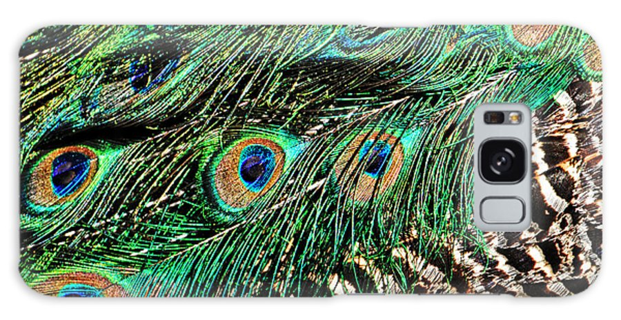 Birds Galaxy S8 Case featuring the photograph Peacock Feathers by Mike Martin