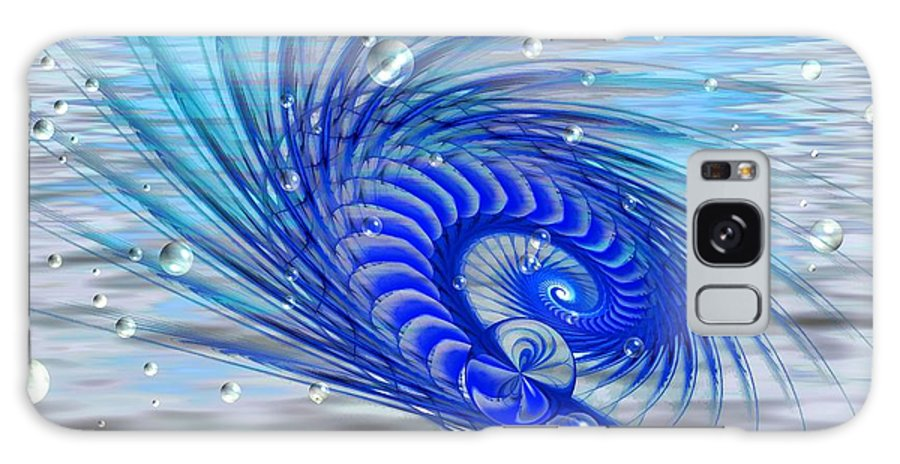 Fractal Galaxy S8 Case featuring the digital art Peacock by Peggy Hughes