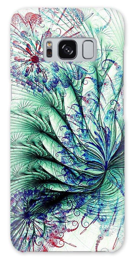 Malakhova Galaxy S8 Case featuring the digital art Peacock Tail by Anastasiya Malakhova