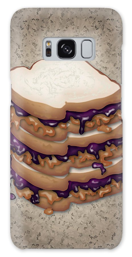 Pbj Galaxy S8 Case featuring the digital art Peanut Butter And Jelly Sandwich by Ym Chin