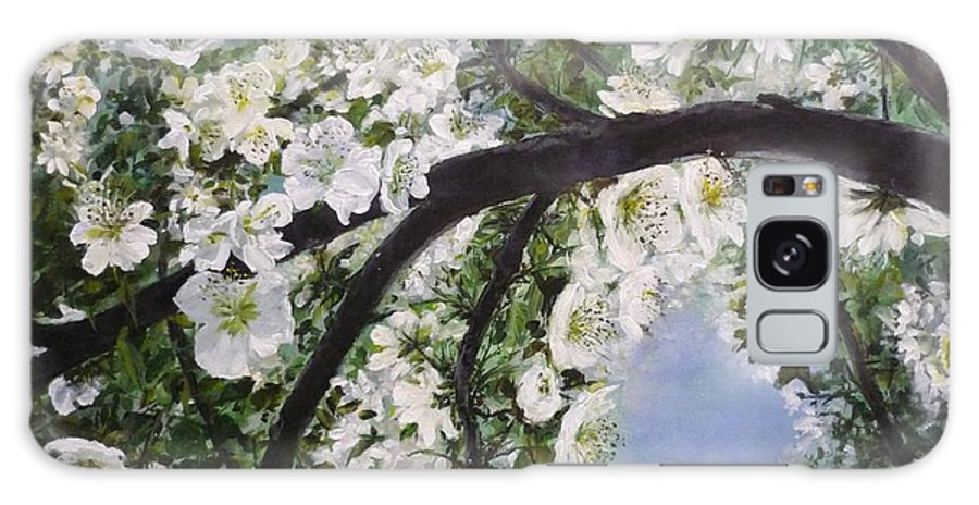 Blossom Galaxy Case featuring the painting Pear Blossom by Lizzy Forrester