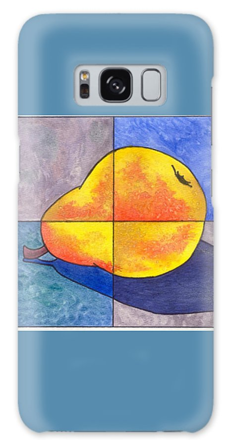 Pear Galaxy Case featuring the painting Pear I by Micah Guenther
