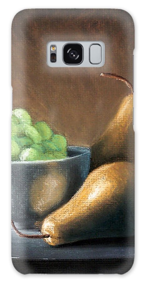 Pastel Galaxy Case featuring the painting Pears And Grapes by Joseph Ogle