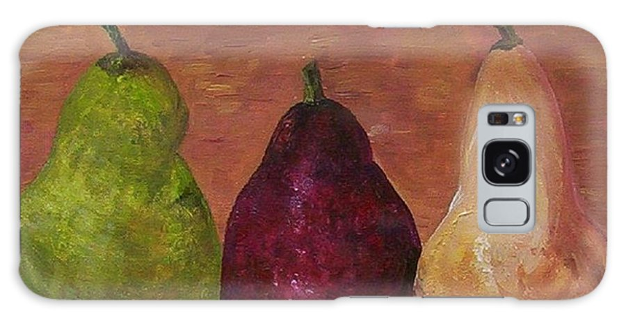 Pear Galaxy S8 Case featuring the painting Pears On Parade  by Eloise Schneider Mote