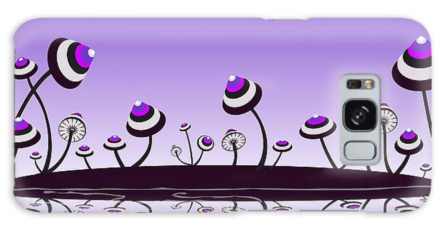 Mushroom Galaxy S8 Case featuring the digital art Peculiar Mushrooms by Anastasiya Malakhova