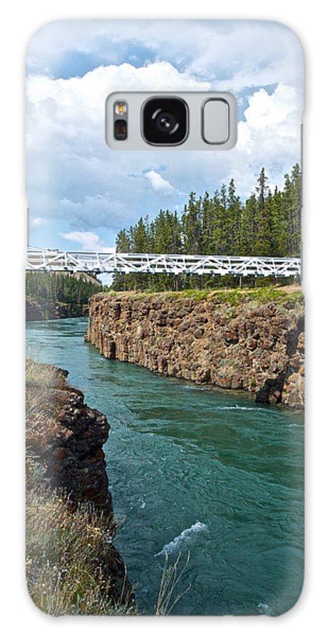 Pedestrian Bridge Over Yukon River Galaxy S8 Case featuring the photograph Pedestrian Bridge Over Yukon River In Miles Canyon Near Whitehorse-yk by Ruth Hager