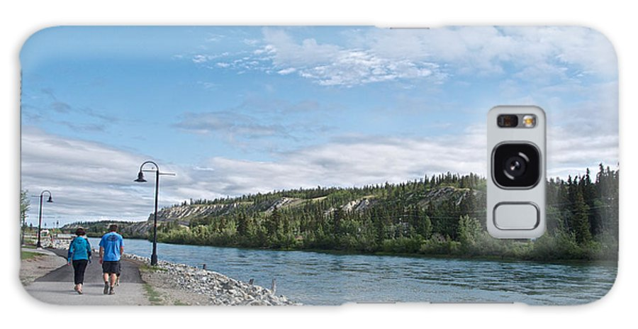 Pedestrian Walkway Along Yukon River Galaxy S8 Case featuring the photograph Pedestrian Walkway Along Yukon River In Whitehorse-yk by Ruth Hager