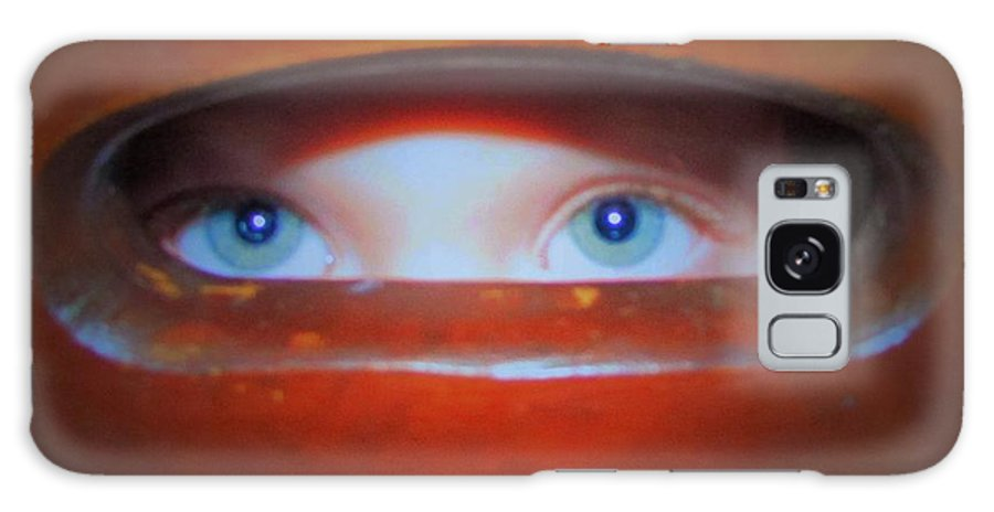 Child Galaxy S8 Case featuring the photograph Peek A Boo by Amy Chesnut