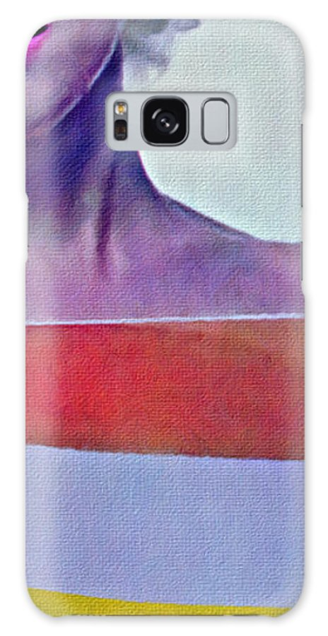 Color Nude Photo Of Marilyn Monroe Galaxy Case featuring the photograph Peek A Boo Marilyn Monroe by Joan Reese