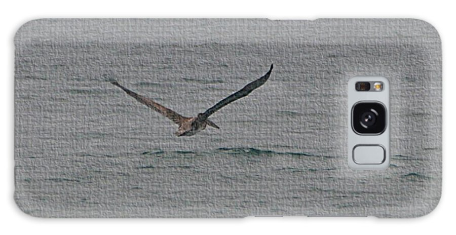 Pelican Flying Low Galaxy S8 Case featuring the photograph pelican Flying Low by Tom Janca