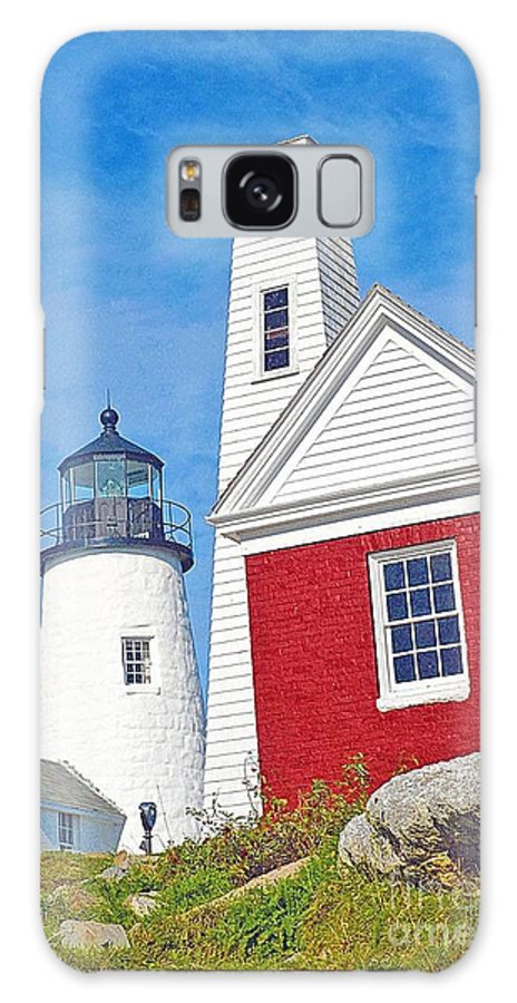 Lighthouse Galaxy S8 Case featuring the photograph Penaquid Light House by Charles Willis