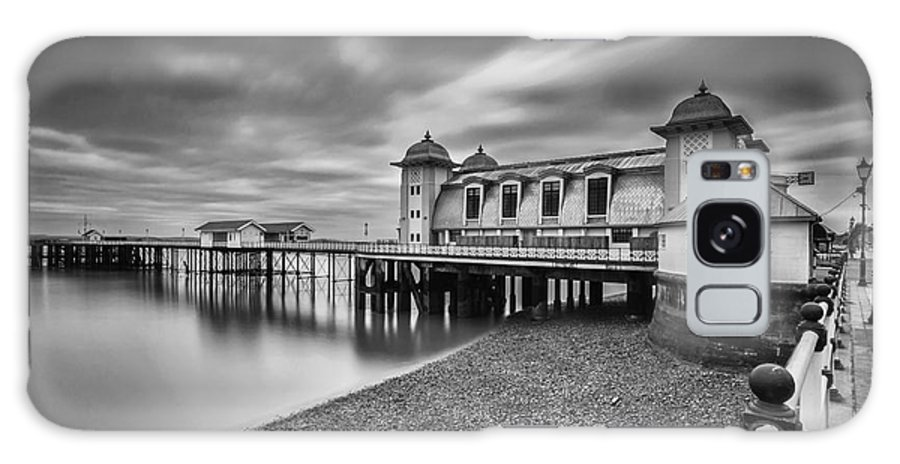 Penarth Pier Galaxy S8 Case featuring the photograph Penarth Pier 1 Mono by Steve Purnell