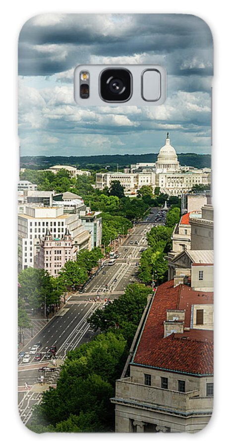 Built Structure Galaxy Case featuring the photograph Pennsylvania Avenue Leading Up To The by Miralex
