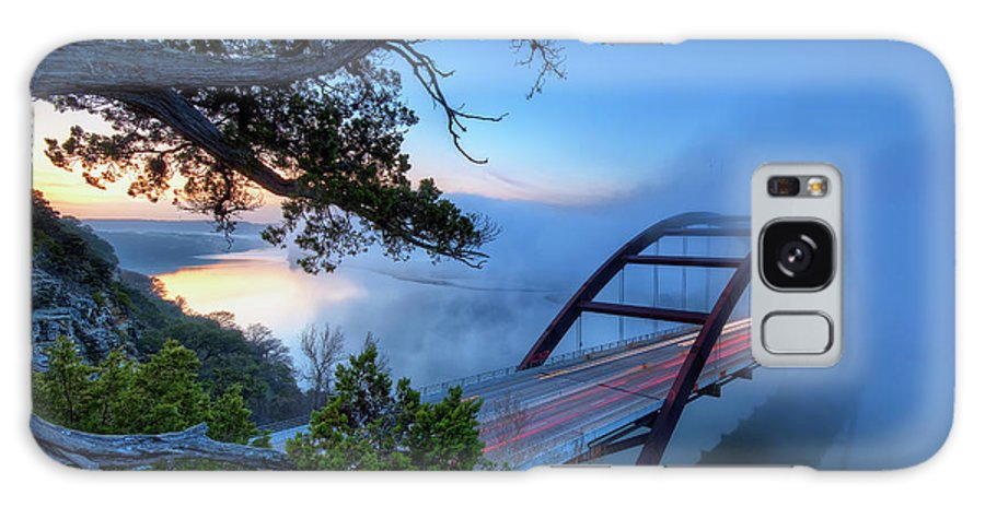 Tranquility Galaxy Case featuring the photograph Pennybacker Bridge In Morning Fog by Evan Gearing Photography