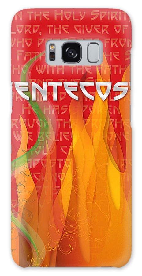 Pentecost Galaxy S8 Case featuring the digital art Pentecost Fires by Chuck Mountain