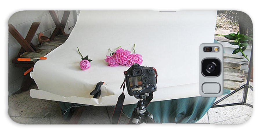 Peonies Galaxy S8 Case featuring the photograph Peonies And Tripod by Rich Franco