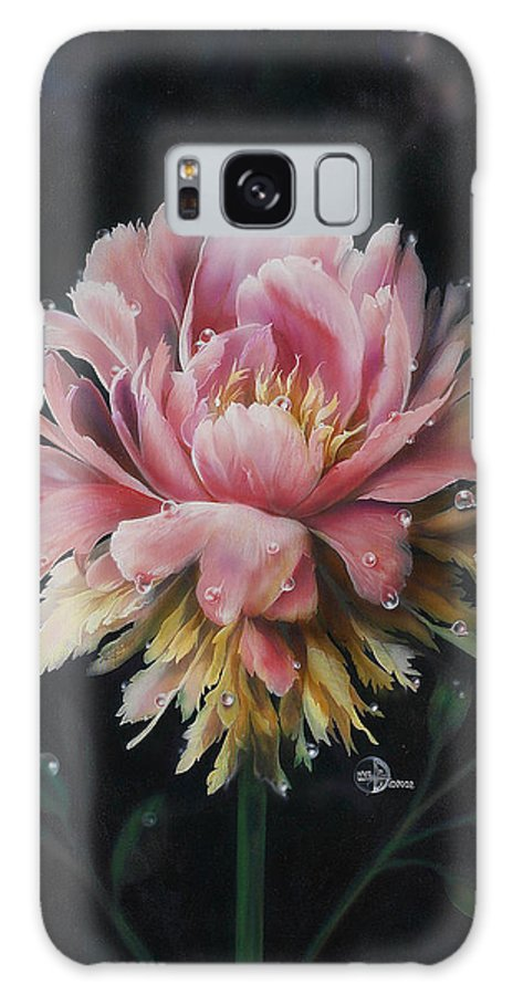 Flower Galaxy S8 Case featuring the painting Peony by Lynette Yencho