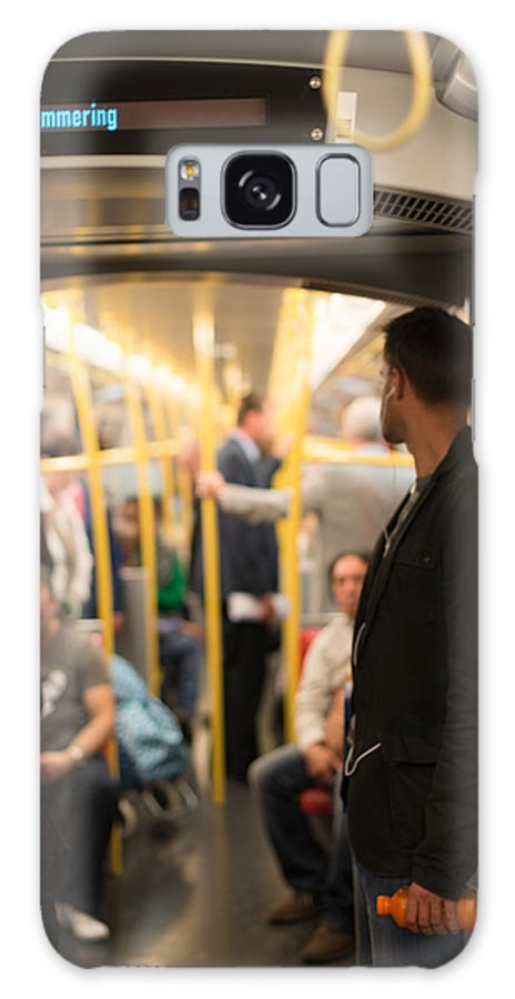 Travel Galaxy S8 Case featuring the photograph People Commuting Vienna Metro by Frank Gaertner
