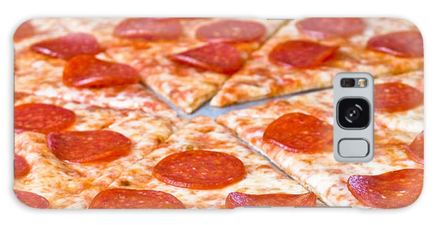 Pepperoni Pizza Galaxy S8 Case featuring the photograph Pepperoni Pizza by Jim DeLillo