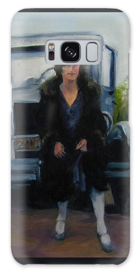 Vintage Galaxy S8 Case featuring the painting Perched by Connie Schaertl