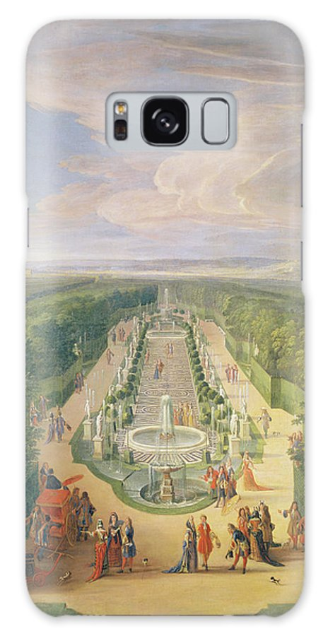 Versailles Galaxy S8 Case featuring the painting Perspective View Of The Grove From The Galerie Des Antiques At Versailles, 1688 Oil On Canvas by Jean-Baptiste Martin