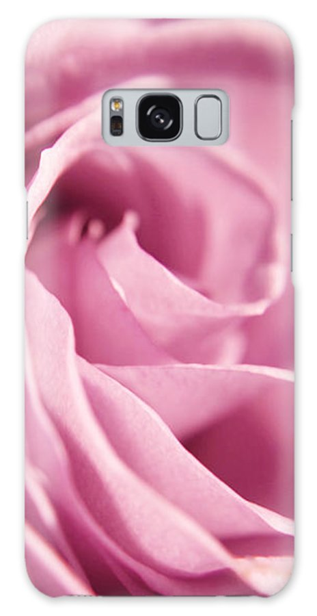 Rose Galaxy S8 Case featuring the photograph Petal Folds by Robin Lynne Schwind