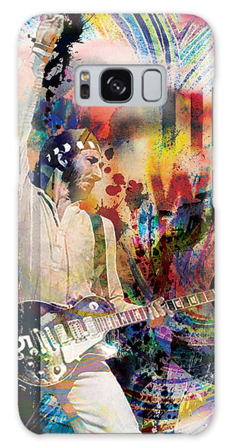 Rock N Roll Galaxy S8 Case featuring the painting Pete Townshend - The Who by Ryan Rock Artist