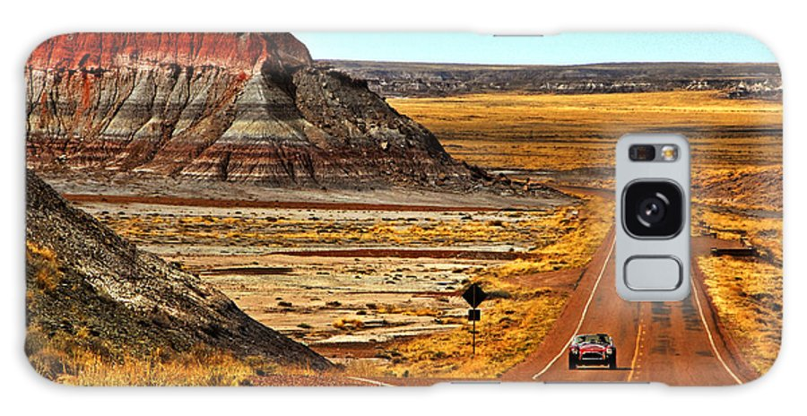 Shelby Galaxy S8 Case featuring the photograph Petrified Forrest Highway-1964 Shelby 289 Cobra by Howard Koby