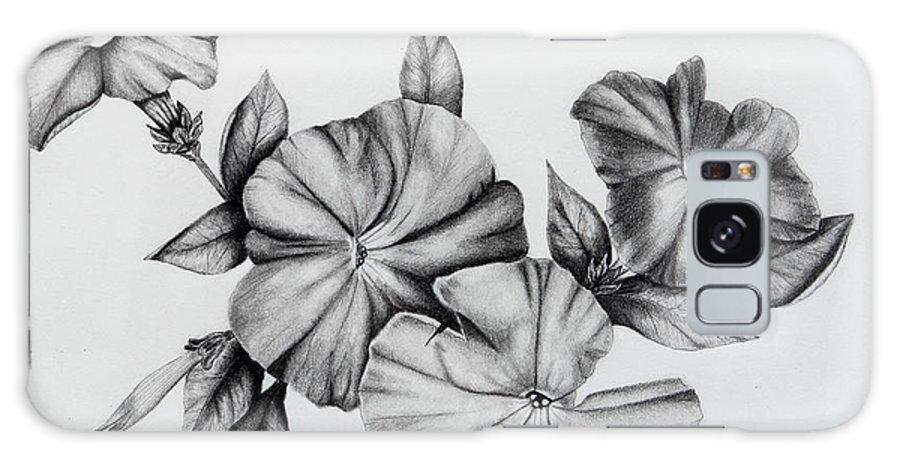 Petunias Galaxy S8 Case featuring the drawing Petunias by Karen Beasley