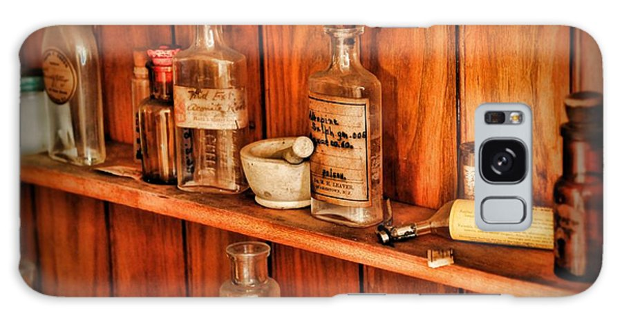Paul Ward Galaxy S8 Case featuring the photograph Pharmacy - A Bottle Of Poison by Paul Ward