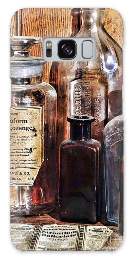 Paul Ward Galaxy S8 Case featuring the photograph Pharmacy - Chloroform Throat Lozenges by Paul Ward
