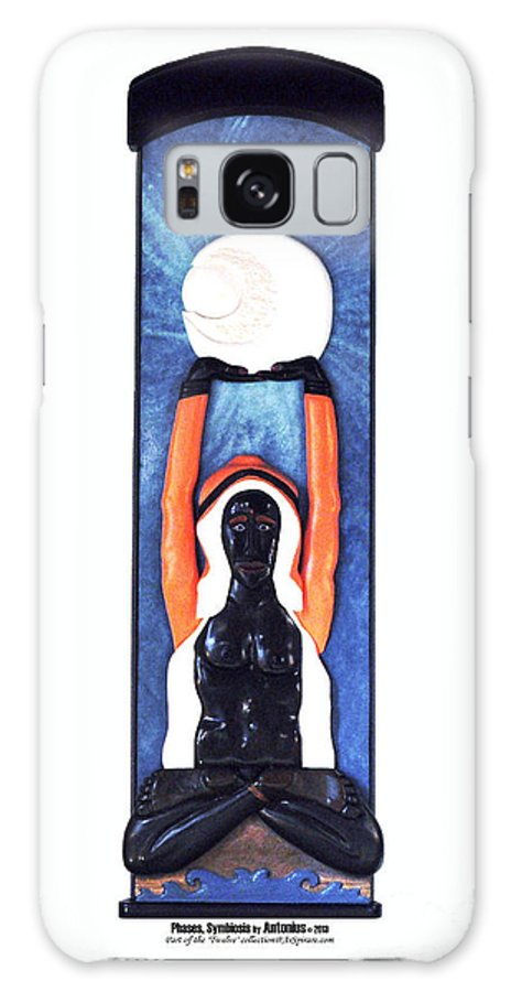 Relief Galaxy S8 Case featuring the painting Phases Symbiosis by ArSpirare by Antonius