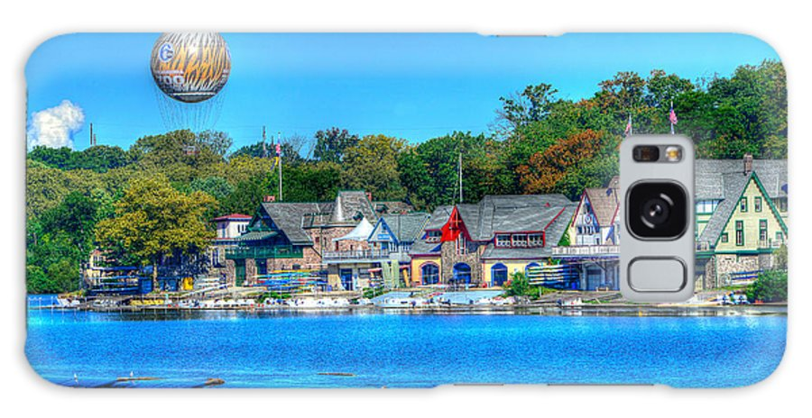 Philadelphia Galaxy S8 Case featuring the photograph Philadelphia Boat House Row And Zoo Balloon by Constantin Raducan
